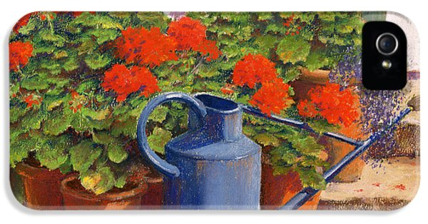 Garden iPhone 5 Case - The Blue Watering Can by Anthony Rule