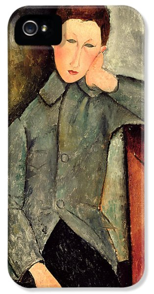 The Boy IPhone 5 Case by Amedeo Modigliani