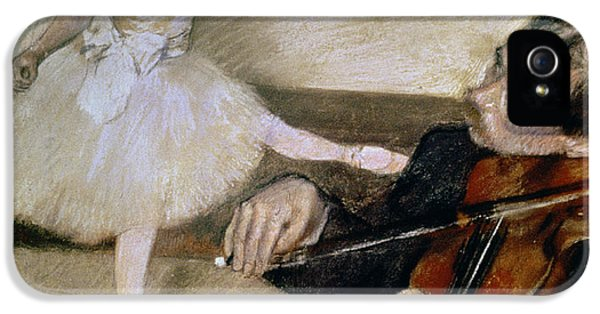 Violin iPhone 5 Case - The Dance Lesson by Edgar Degas
