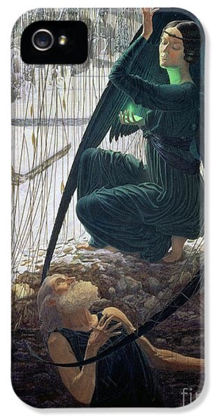 The Death And The Gravedigger IPhone 5 Case by Carlos Schwabe