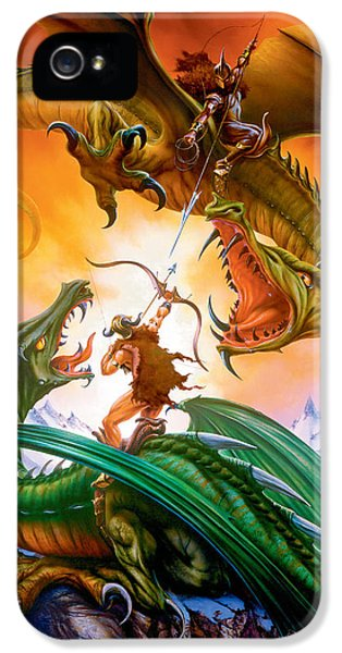 The Duel IPhone 5 Case by The Dragon Chronicles