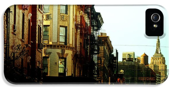 The Empire State Building And Little Italy - New York City IPhone 5 Case by Vivienne Gucwa