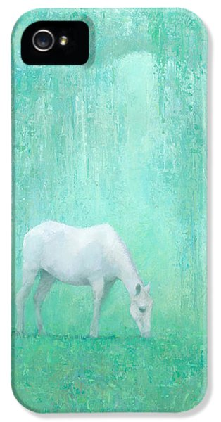 Horse iPhone 5 Case - The Green Glade by Steve Mitchell