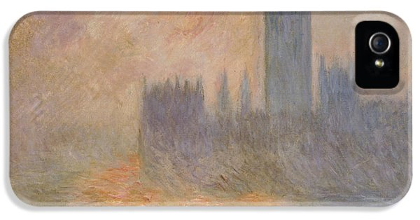 The Houses Of Parliament At Sunset IPhone 5 Case by Claude Monet