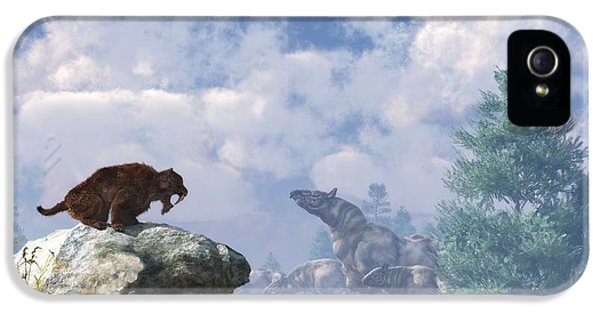 The Paraceratherium Migration IPhone 5 Case by Daniel Eskridge