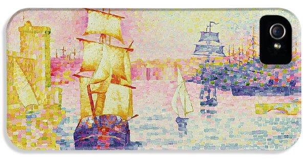 The Port Of Marseilles IPhone 5 Case by Henri-Edmond Cross