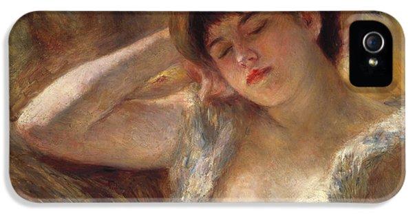 The Sleeper IPhone 5 Case by Pierre Auguste Renoir