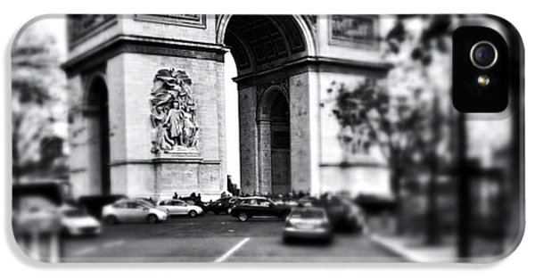 #today #paris #monument #bnw #monotone IPhone 5 Case by Ritchie Garrod
