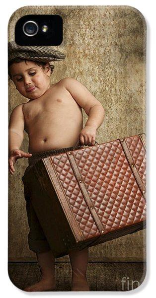 toddler Leaving Home IPhone 5 Case by Yedidya yos mizrachi