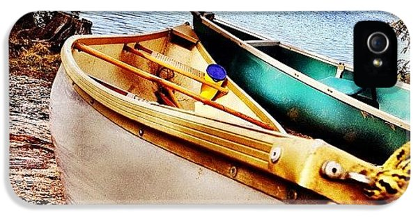 Instahub iPhone 5 Case - Two Canoes by Christopher Campbell