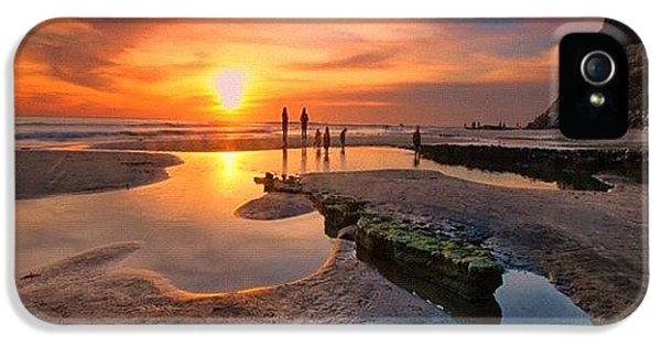 iPhone 5 Case - Ultra Low Tide Sunset At A North San by Larry Marshall
