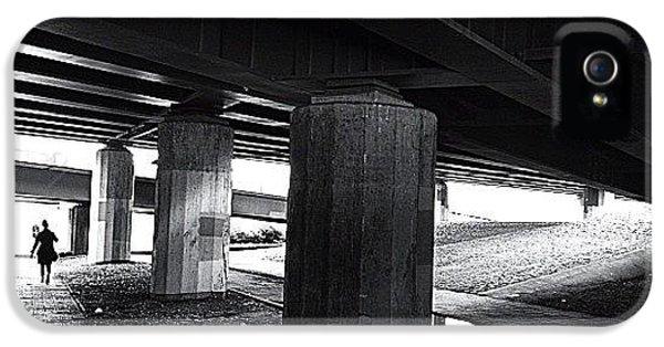 Light iPhone 5 Case - Under The Bridge#bw# #walk #light by A Rey