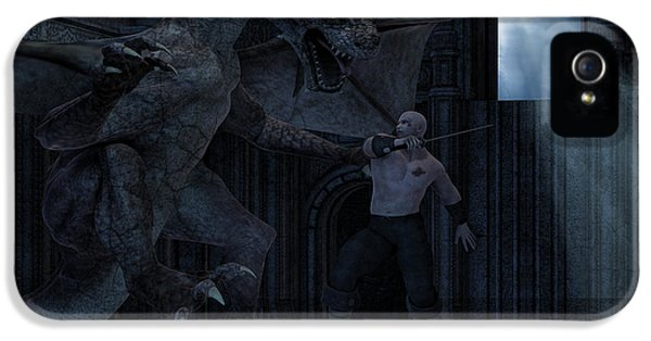 Dungeon iPhone 5 Case - Under The Moonlight by Lourry Legarde