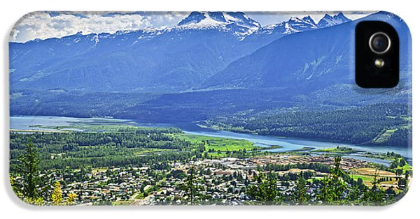 Town iPhone 5 Case - View Of Revelstoke In British Columbia by Elena Elisseeva