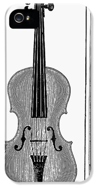 Violin iPhone 5 Case - Violin And Bow by Granger