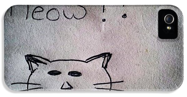 Follow iPhone 5 Case - What My Room Mates Draw! #cat #drawing by Abdelrahman Alawwad