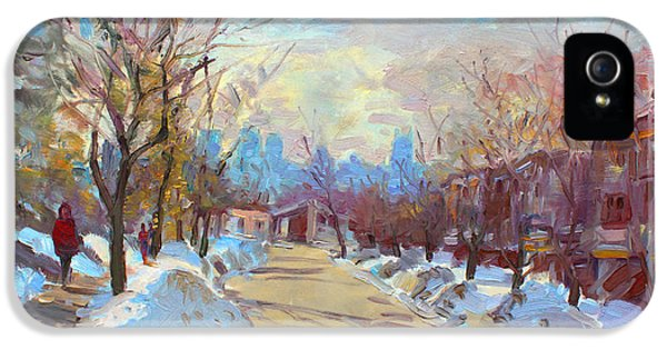 Winter In Silverado Dr Mississauga On IPhone 5 Case