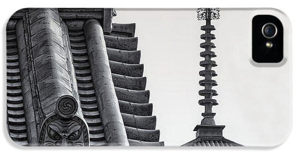 Yakushi-ji Temple Roof Study IPhone 5 Case