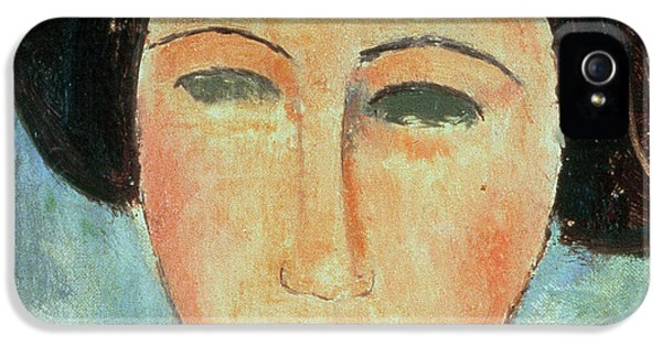 Young Brunette IPhone 5 Case by Modigliani