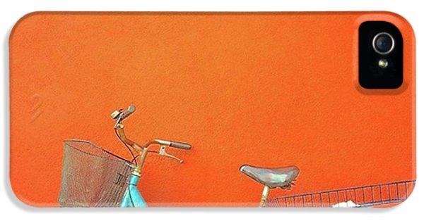 Blue Bike In Burano Italy IPhone 5 Case by Anne Hilde Lystad