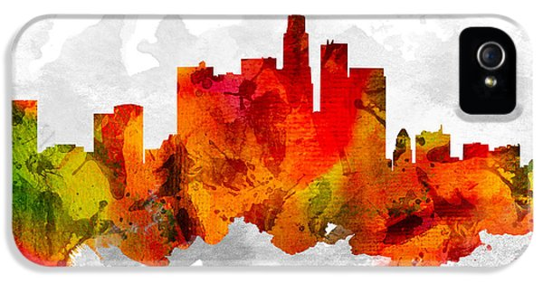 Los Angeles California Cityscape 15 IPhone 5 Case by Aged Pixel