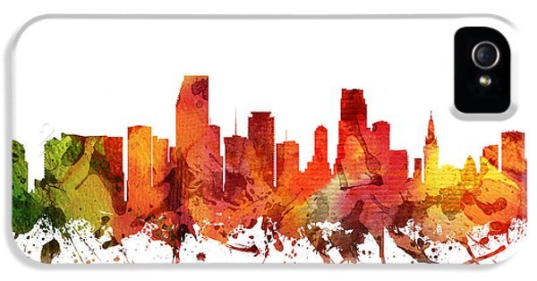 Miami Cityscape 04 IPhone 5 / 5s Case by Aged Pixel