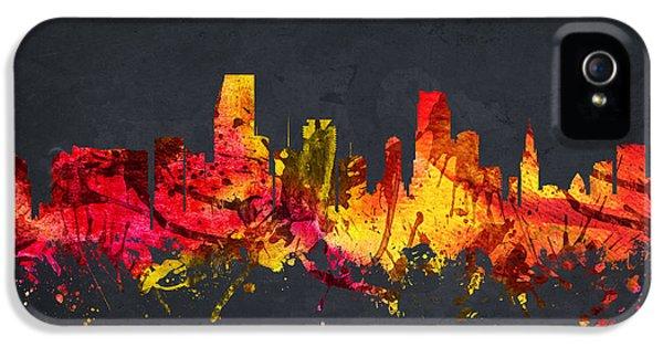 Miami Skyline iPhone 5 Case -  Miami Cityscape 07 by Aged Pixel