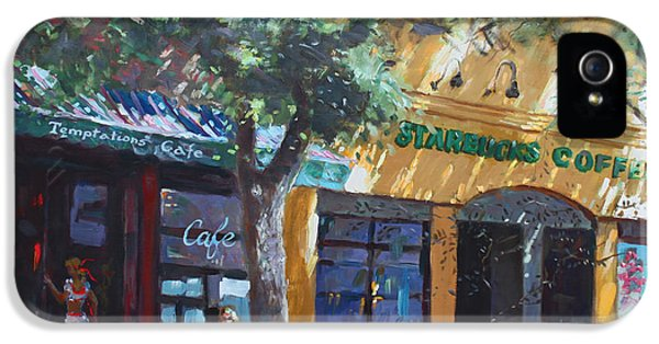 Main Street iPhone 5 Cases -  Starbucks Hangout iPhone 5 Case by Ylli Haruni