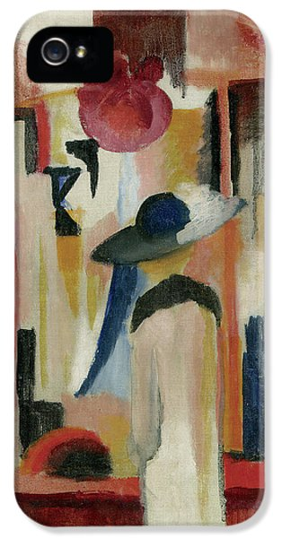 Study Of A Bright Shop Window IPhone 5 Case by August Macke