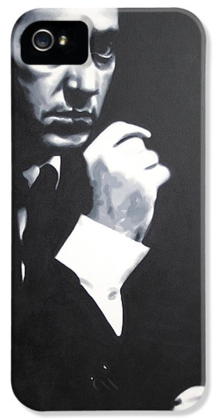 - The Godfather - IPhone 5 Case by Luis Ludzska
