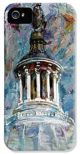 063 United States Capitol Dome IPhone 5 Case by Maryam Mughal