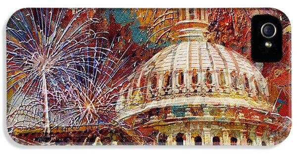 070 United States Capitol Building - Us Independence Day Celebration Fireworks IPhone 5 Case