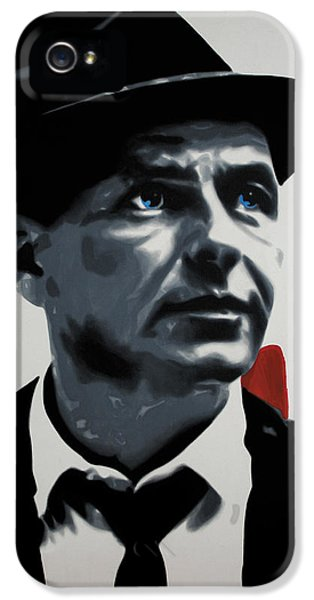 - Sinatra - IPhone 5 Case by Luis Ludzska