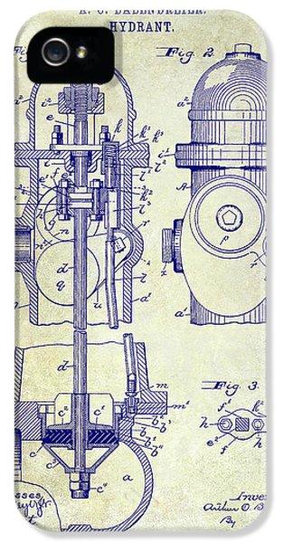 1903 Fire Hydrant Patent IPhone 5 Case by Jon Neidert