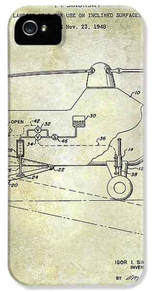 1953 Helicopter Patent IPhone 5 Case