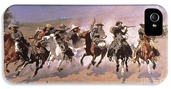 A Dash For The Timber IPhone 5 Case by Frederic Remington