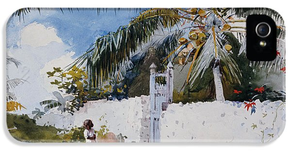 A Garden In Nassau IPhone 5 / 5s Case by Winslow Homer