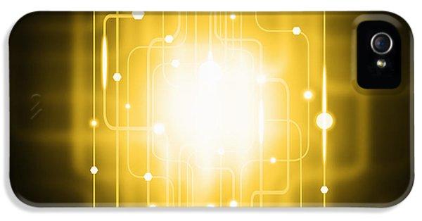 Abstract Circuit Board Lighting Effect  IPhone 5 Case by Setsiri Silapasuwanchai