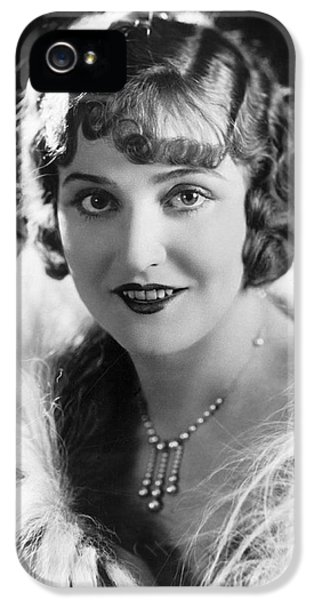Actress Agnes Ayres IPhone 5 Case by Underwood Archives