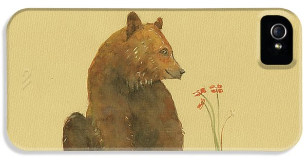 Alaskan Grizzly Bear IPhone 5 Case by Juan Bosco