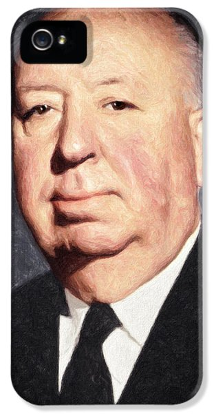 Alfred Hitchcock IPhone 5 / 5s Case by Taylan Apukovska