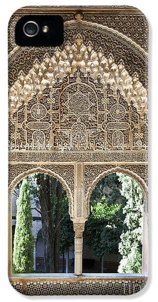 Tourism iPhone 5 Cases - Alhambra windows iPhone 5 Case by Jane Rix
