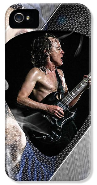 Angus Young Ac Dc IPhone 5 Case by Marvin Blaine