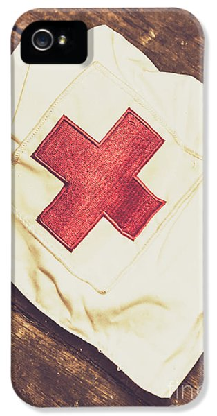 Antique Nurses Hat With Red Cross Emblem IPhone 5 Case