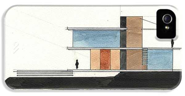 Pencil Drawing iPhone 5 Case - Architectural Drawing by Juan Bosco