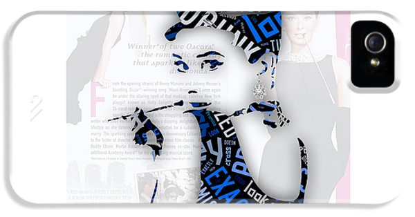 Audrey Hepburn Breakfast At Tiffany's Quotes IPhone 5 / 5s Case by Marvin Blaine