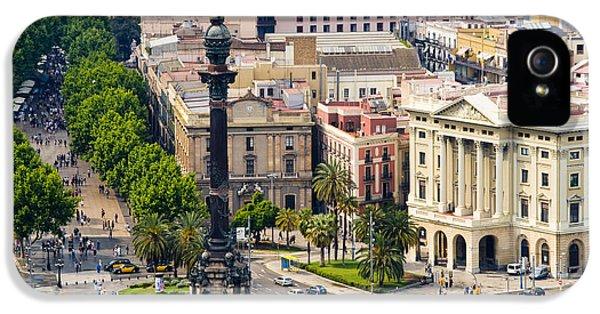 Barcelona With Tree-lined Las Ramblas IPhone 5 Case
