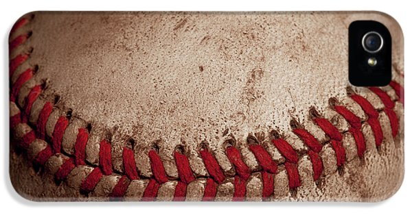 IPhone 5 Case featuring the photograph Baseball Seams by David Patterson