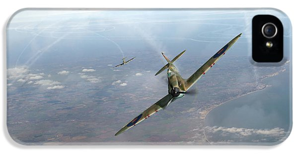 IPhone 5 Case featuring the photograph Battle Of Britain Spitfires Over Kent by Gary Eason