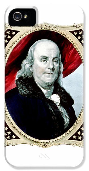 Ben Franklin IPhone 5 Case by War Is Hell Store